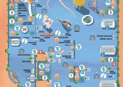 Coachella Festivalmap by