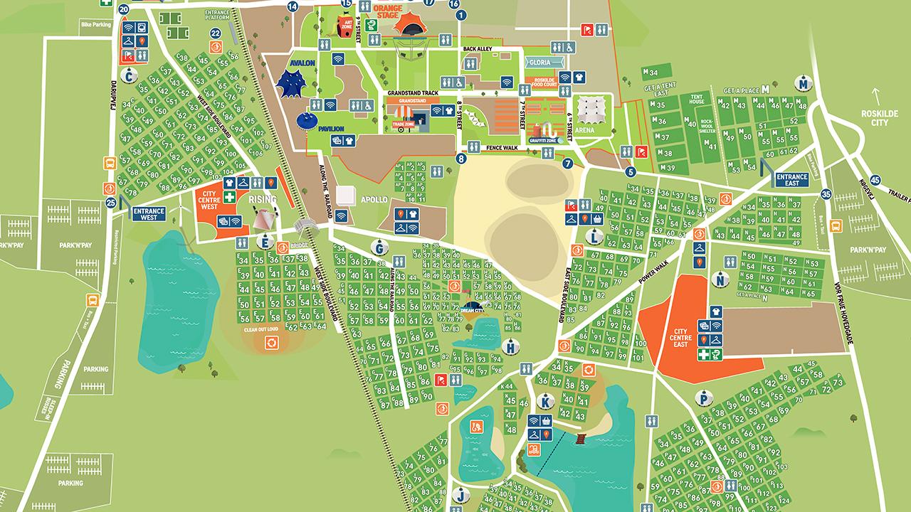 Roskilde Festival Map Roskilde Festival 2020 Tickets 2020 02 01