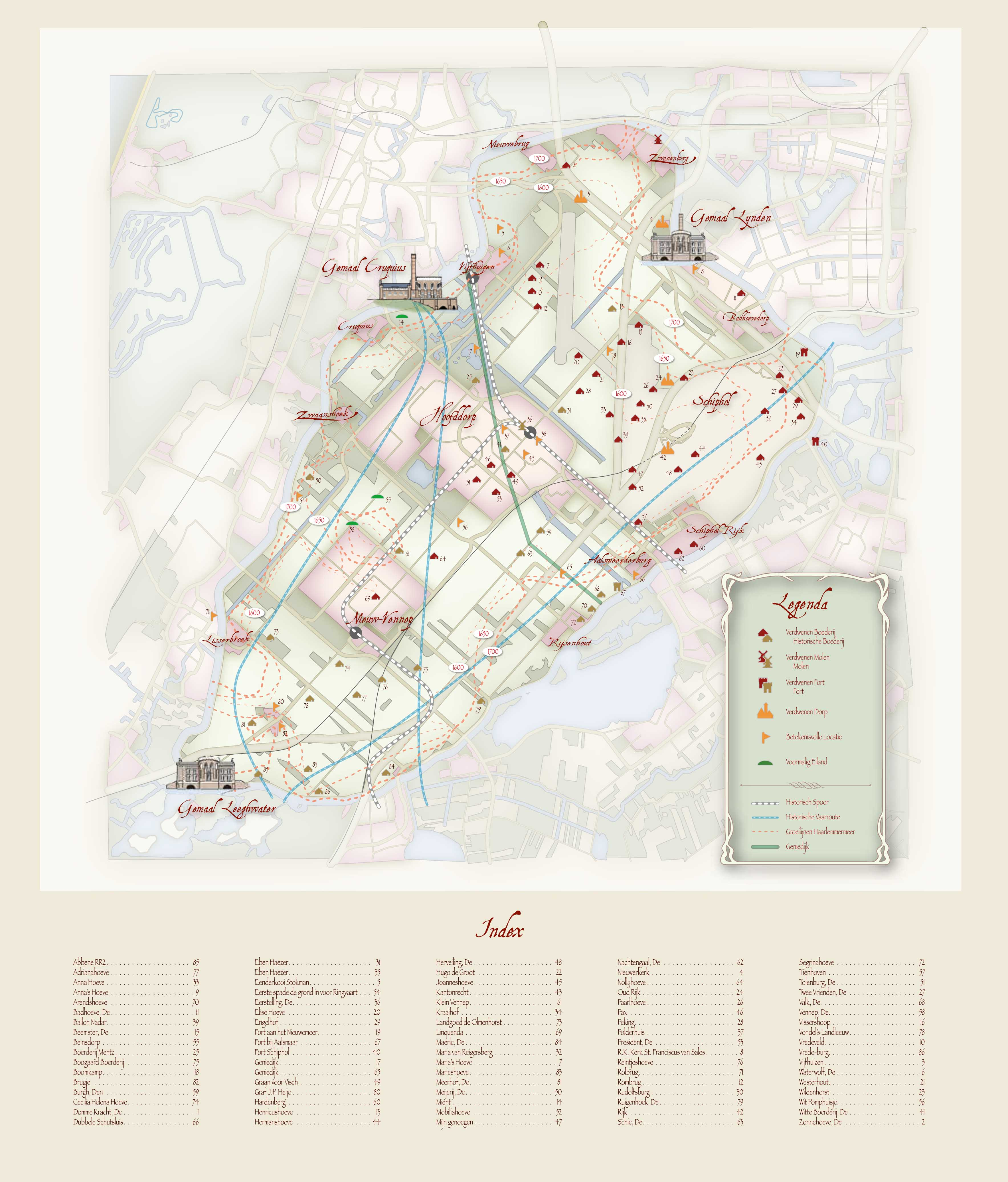 Historische kaart Haarlemmermeer Work in progress Maps Maps Maps